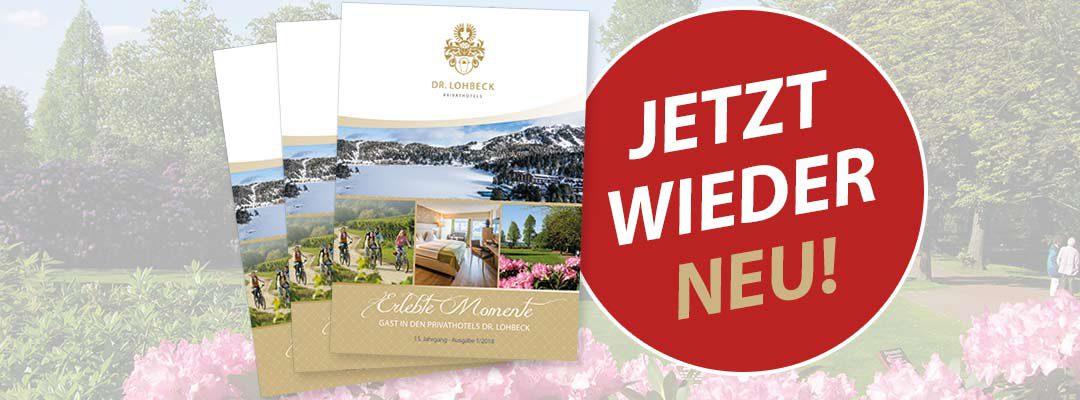 """Neu in unseren Hotels: die Frühjahrs-Ausgabe der """"Erlebten Momente"""""""